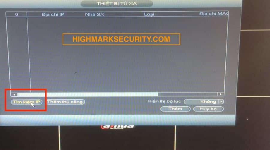 Chọn tìm kiếm IP