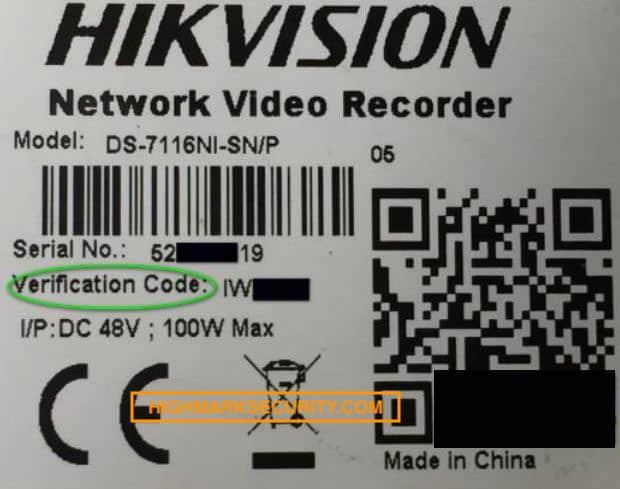 Mật khẩu trên đầu ghi IP Hikvision