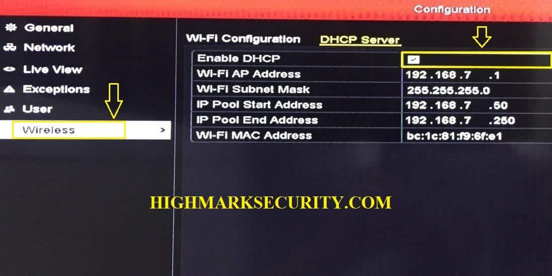 Vào wireless kiểm tra DHCP đã bật hay chưa