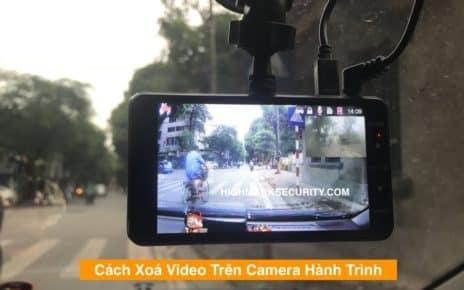 Cách Xoá Video Trên Camera Hành Trình