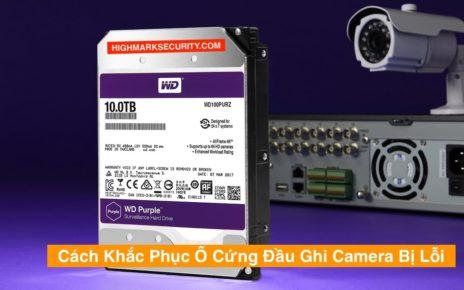 Ổ Cứng Đầu Ghi Camera Bị Lỗi
