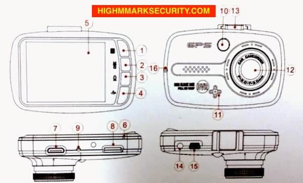 Sơ đồ camera hành trình Vietmap X9