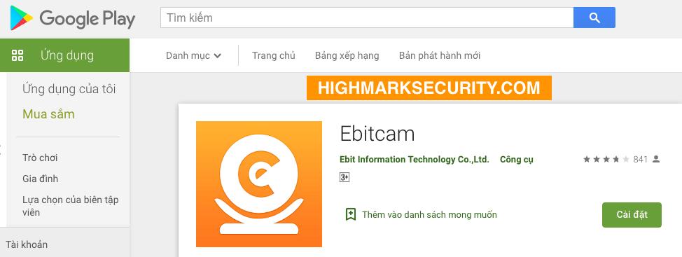 Tải Phần Mềm Ebitcam trên Android
