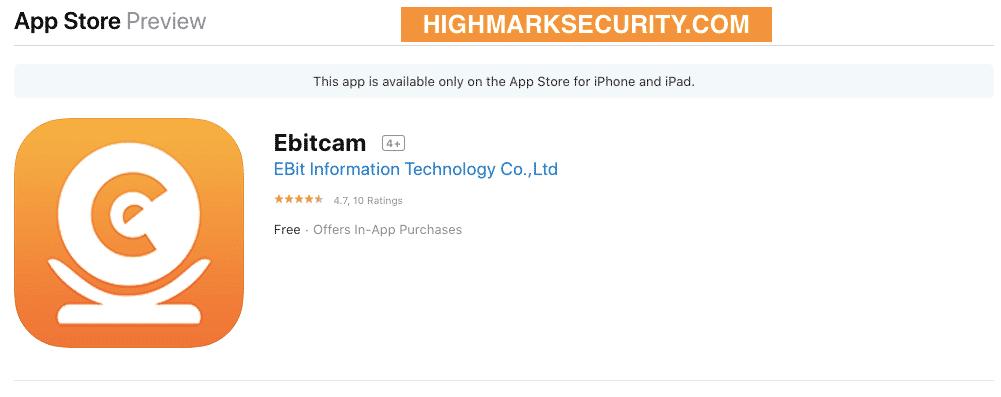Tải Phần Mềm Ebitcam trên Appstore