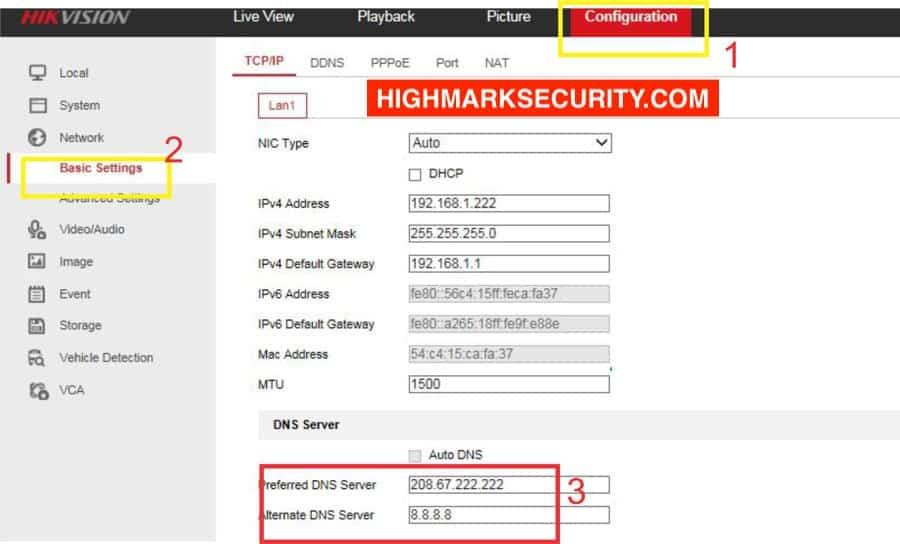 Lỗi DNS trên Hik Connect