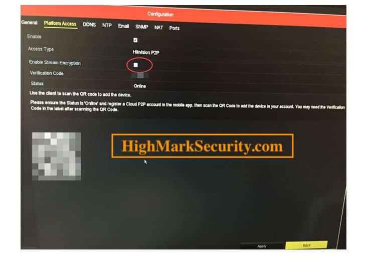 Tắt tính năng Stream encryption đầu ghi Hikvision