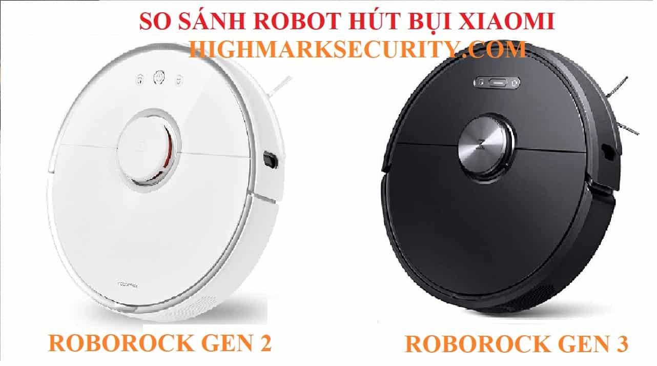 so sánh robot hút bụi xiaomi roborock gen 2 và roborock gen 2